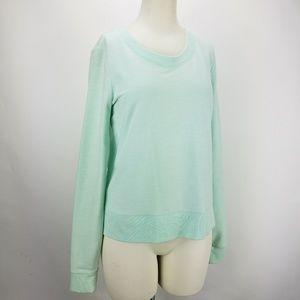Anthro Saturday Sunday Lace Tail Trim Sweatshirt